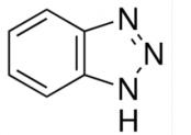 Estructura del 1,2,3-benzotriazol CAS 95-14-7