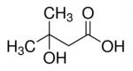 מבנה של חומצה 3-הידרוקסי-3-מתילבוטנואית CAS 625-08-1