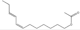 Estructura de TRANS-7, ACETATO DE CIS-9-DODECADIENIL CAS # 55774-32-8