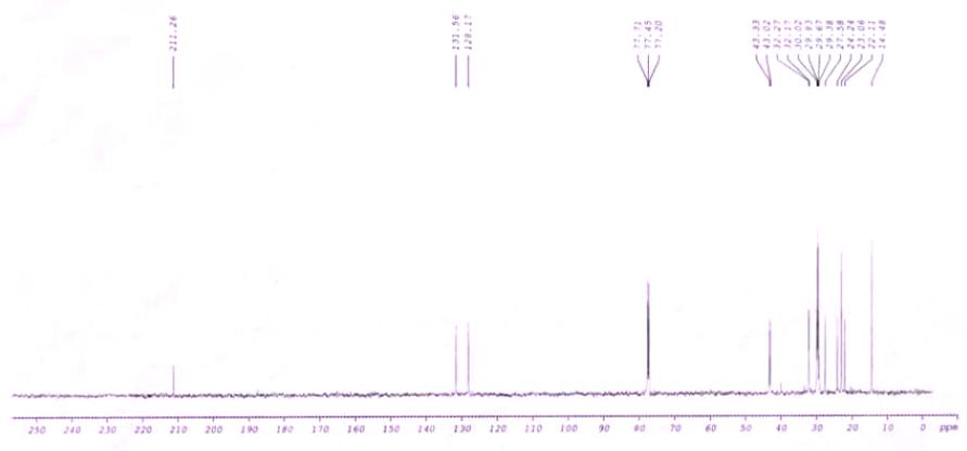 CNMR of Peachflure CAS 63408-44-6