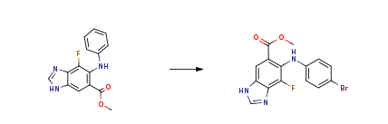 Route of Synthesis (ROS) of methyl 7-fluoro-6-(phenylamino)-3H-benzo[d]imidazole-5-carboxylate CAS 606093-59-8