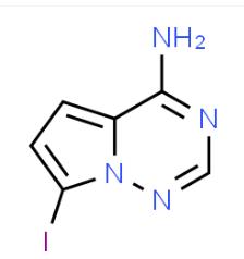 Estructura de 4-amino-7-yodopirrolo [2,1-f] [1,2,4] triazina CAS 1770840-43-1