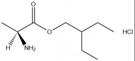 की संरचना (एस) -2-एथिलब्यूटाइल 2-अमीनोप्रोपेनेटो हाइड्रोक्लोराइड कैस # 946511-97-3