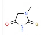 1- 메틸 -2- 티오 옥소 이미 다 졸리 딘 -4- 온 CAS 29181-65-5의 구조