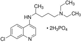 Estructura del difosfato de cloroquina CAS 50-63-5