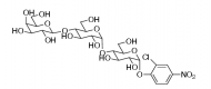 Структура Gal-G2-CNP 2-хлор-4-нитрофенил 4-O-β-Dгалактопиранозилмальтозида CAS 157381-11-8