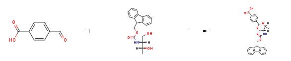 Droga syntezy (ROS) p-karboksybenzacetalu Fmoc-L-treoninolu CAS 205109-16-6
