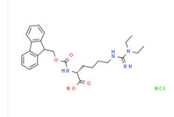 Fmoc-D-Homoarg(Et)2-OH・HClCAS2098497-24-4の構造